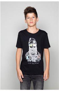 T-shirt T-shirt TELLIER Boy W19156B (46283) - DEELUXE-SHOP
