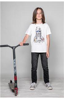 T-shirt T-shirt TELLIER Boy W19156B (46287) - DEELUXE-SHOP