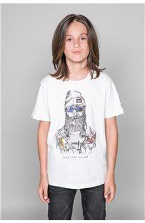 T-shirt T-shirt TELLIER Boy W19156B (46288) - DEELUXE-SHOP