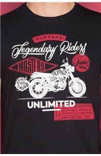 T-shirt RIDERS Man W19180 (47156) - DEELUXE-SHOP