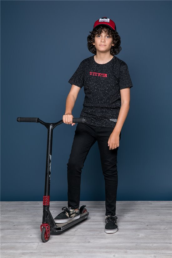 T-shirt T-shirt GALAXIE Boy W19143B (47242) - DEELUXE-SHOP