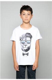 T-Shirt LIONMAN Garçon W18135B (47455) - DEELUXE