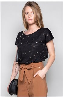 T-shirt PLUME Woman W19124W (47676) - DEELUXE-SHOP