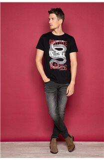 T-shirt SNAKE Man W19120 (47835) - DEELUXE-SHOP