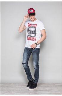 T-shirt SNAKE Man W19120 (47840) - DEELUXE-SHOP