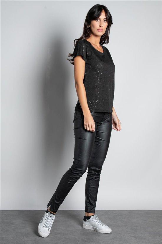 T-shirt GLITTER Woman W19118W (47883) - DEELUXE-SHOP