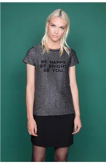 T-shirt JANETTE Woman W19107W (47905) - DEELUXE-SHOP