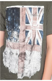 T-shirt T-SHIRT FLAGY Boy W18160B (48359) - DEELUXE-SHOP