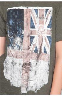 T-Shirt FLAGY Garçon W18160B (48359) - DEELUXE