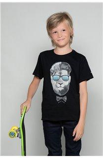 T-shirt LIONMAN Boy W19135B (48703) - DEELUXE-SHOP