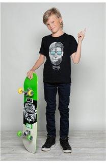 T-shirt LIONMAN Boy W19135B (48704) - DEELUXE-SHOP