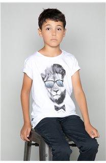 T-shirt LIONMAN Boy W19135B (48713) - DEELUXE-SHOP