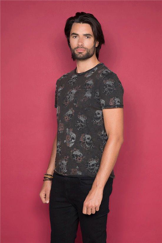 T-shirt T-shirt FLOSKULL Man W19105 (48792) - DEELUXE-SHOP
