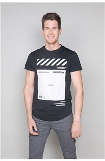 T-shirt HERE Man W19162 (49101) - DEELUXE-SHOP