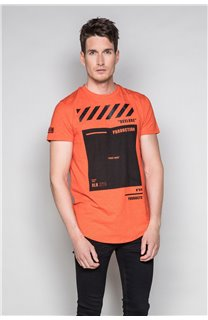T-shirt HERE Man W19162 (49104) - DEELUXE-SHOP