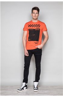 T-shirt HERE Man W19162 (49105) - DEELUXE-SHOP