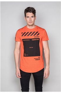 T-shirt HERE Man W19162 (49106) - DEELUXE-SHOP