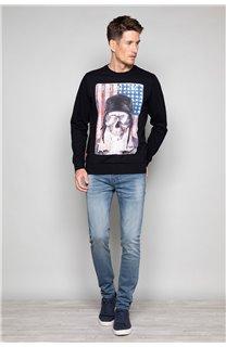 Sweatshirt ARMANDO Man W19541 (49111) - DEELUXE-SHOP