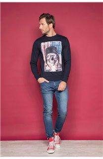 Sweatshirt ARMANDO Man W19541 (49116) - DEELUXE-SHOP