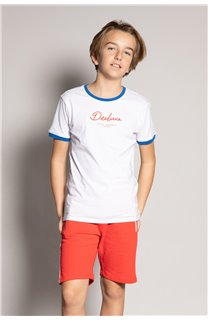 T-shirt HYLTER Boy S20110B (51034) - DEELUXE-SHOP
