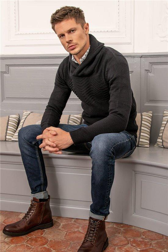 Sweater PULL ANDREW Man W20329M (54995) - DEELUXE-SHOP