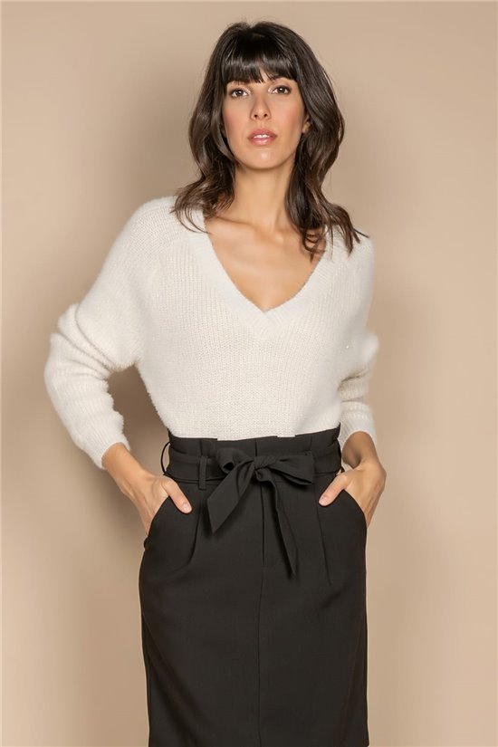 Sweater JUMPER ARMELLE Woman W20306W (55238) - DEELUXE-SHOP