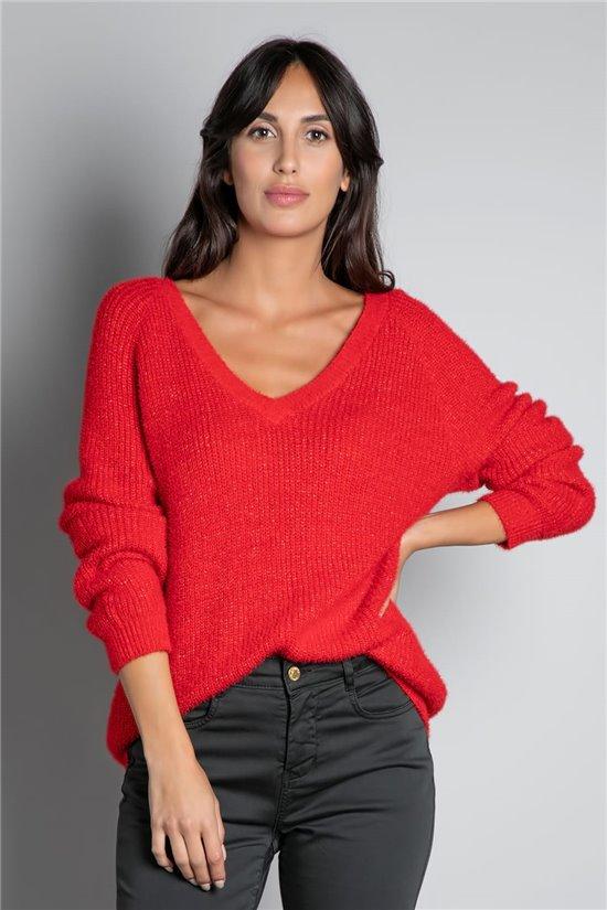 Sweater JUMPER ARMELLE Woman W20306W (55238) - DEELUXE-SHOP