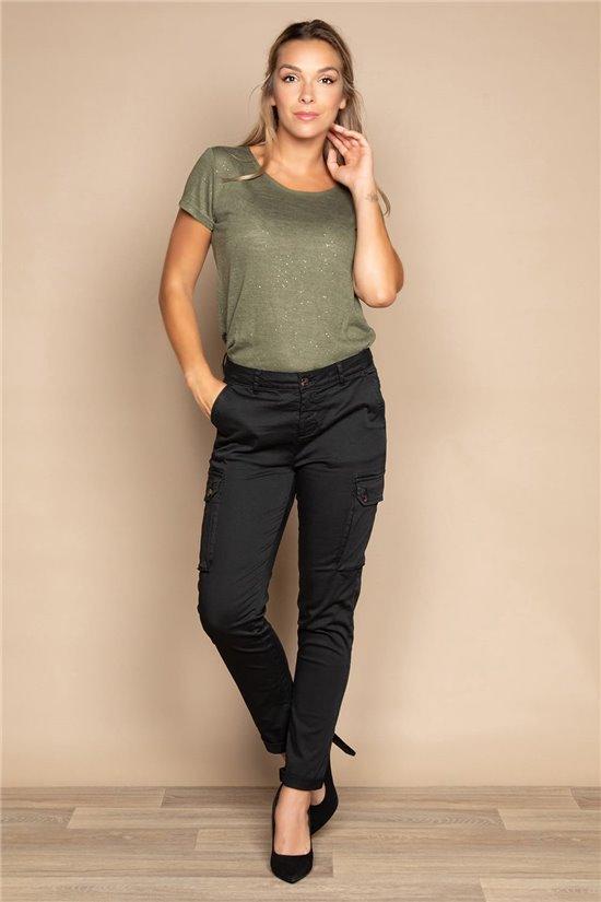 T-shirt T-SHIRT GLITTER Woman W20118W (55655) - DEELUXE-SHOP