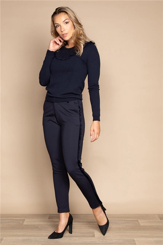Pant TROUSERS HONORA Woman W20736W (55830) - DEELUXE-SHOP