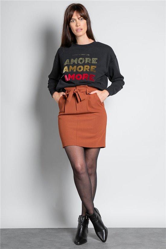 Sweatshirt SWEATSHIRT AMORE Woman W20504W (55881) - DEELUXE-SHOP