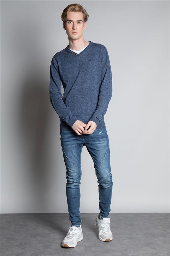 Sweater PULL SINGLE Man W20317M (56053) - DEELUXE-SHOP