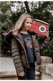 Puffy Jacket JACKET LEONA Girl W20662G (56675) - DEELUXE-SHOP