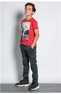 Pant CHINOS COTTAGE Boy W207001B (56840) - DEELUXE-SHOP