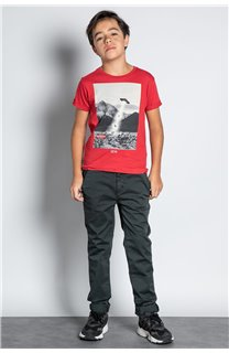 Pant CHINOS COTTAGE Boy W207001B (56841) - DEELUXE-SHOP