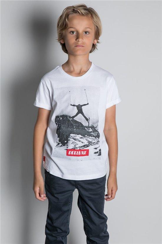 T-shirt T-SHIRT HELP Boy W20114B (56870) - DEELUXE-SHOP