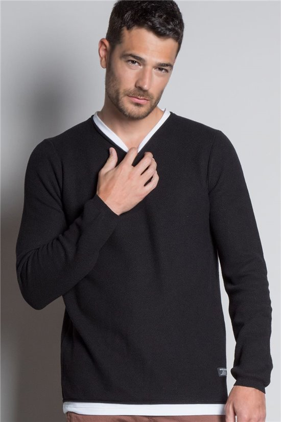 Sweater PULL ERWINO Man W20304M (57123) - DEELUXE-SHOP