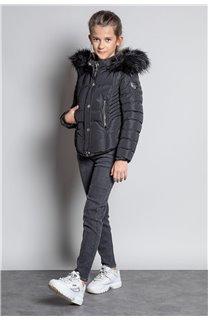 Puffy Jacket JACKET LEONA Girl W20662G (57130) - DEELUXE-SHOP