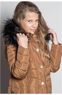 Puffy Jacket JACKET LEONA Girl W20662G (57138) - DEELUXE-SHOP