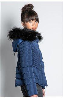 Puffy Jacket JACKET LEONA Girl W20662G (57142) - DEELUXE-SHOP