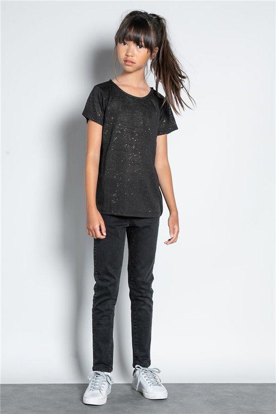 T-shirt T-SHIRT GLITTER Girl W20118G (57148) - DEELUXE-SHOP