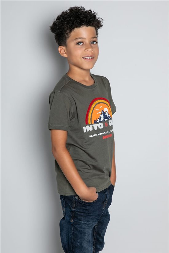 T-shirt T-SHIRT FOREIGN Boy W20103B (57210) - DEELUXE-SHOP