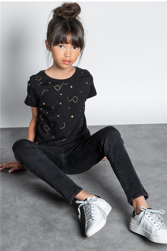 T-shirt T-SHIRT ESTRELLA Girl W20124G (57328) - DEELUXE-SHOP