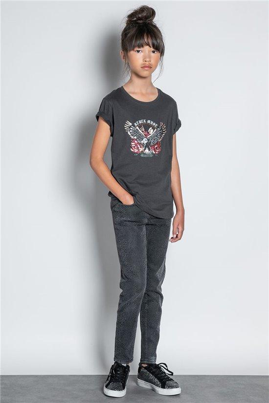 T-shirt T-SHIRT REBEL Girl W20119G (56680) - DEELUXE-SHOP