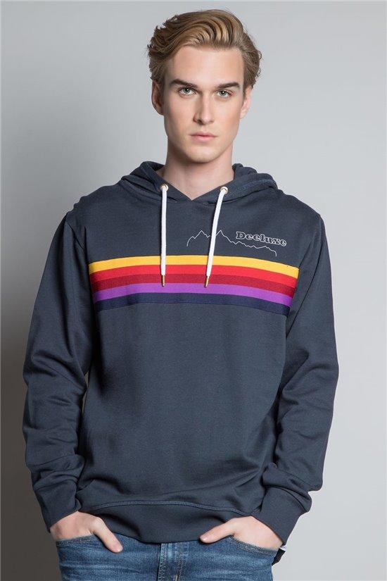 Sweatshirt HOODIE RAINBOW Man W20525M (58021) - DEELUXE-SHOP