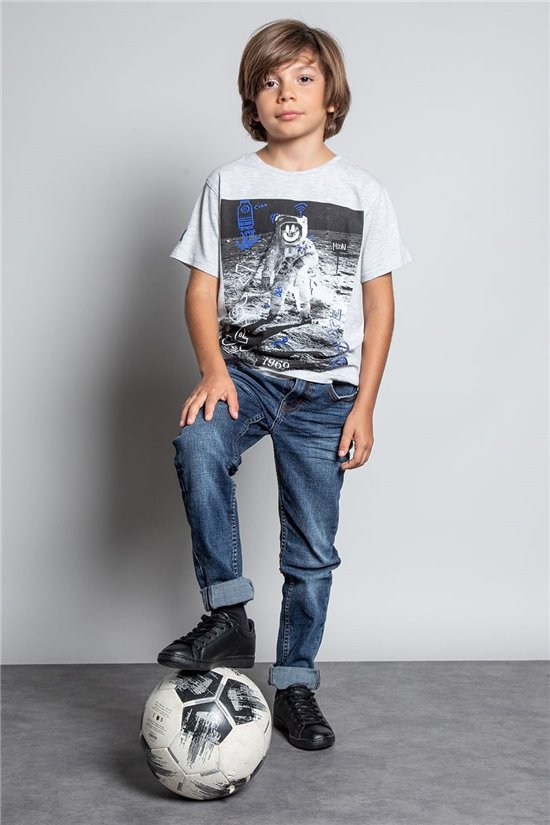 T-shirt T-SHIRT INVADER Boy W20157B (58075) - DEELUXE-SHOP