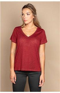 T-shirt T-SHIRT ETHANY Woman W20109W (58220) - DEELUXE-SHOP