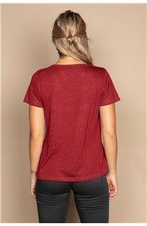 T-shirt T-SHIRT ETHANY Woman W20109W (58221) - DEELUXE-SHOP