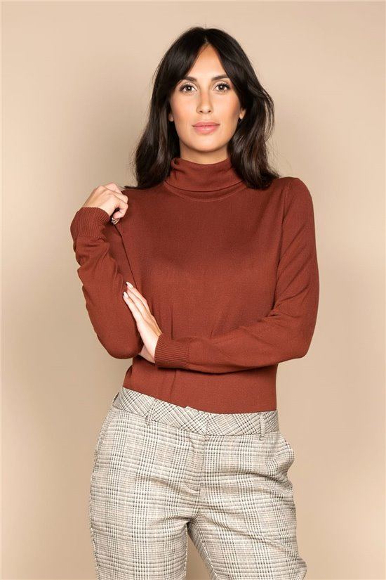 Sweater PULL BASIC Woman W20326W (58478) - DEELUXE-SHOP